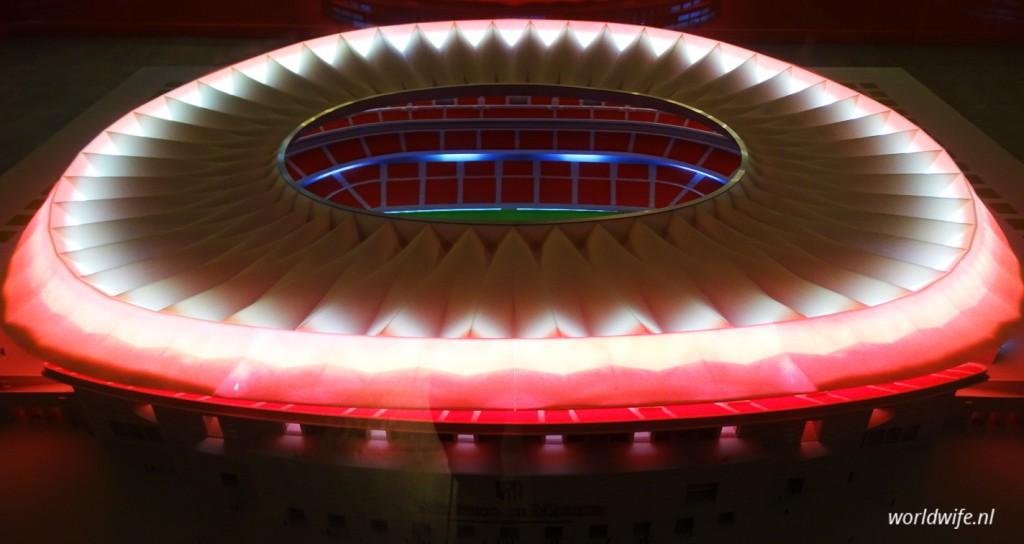 Maquette van het nieuwe stadion van Atlético Madrid