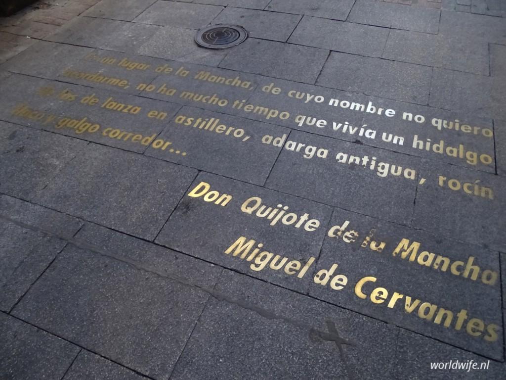 Quote van Cervantes, de bedenker van Don Quichotte