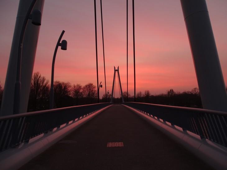 Zonsondergang in Helmond