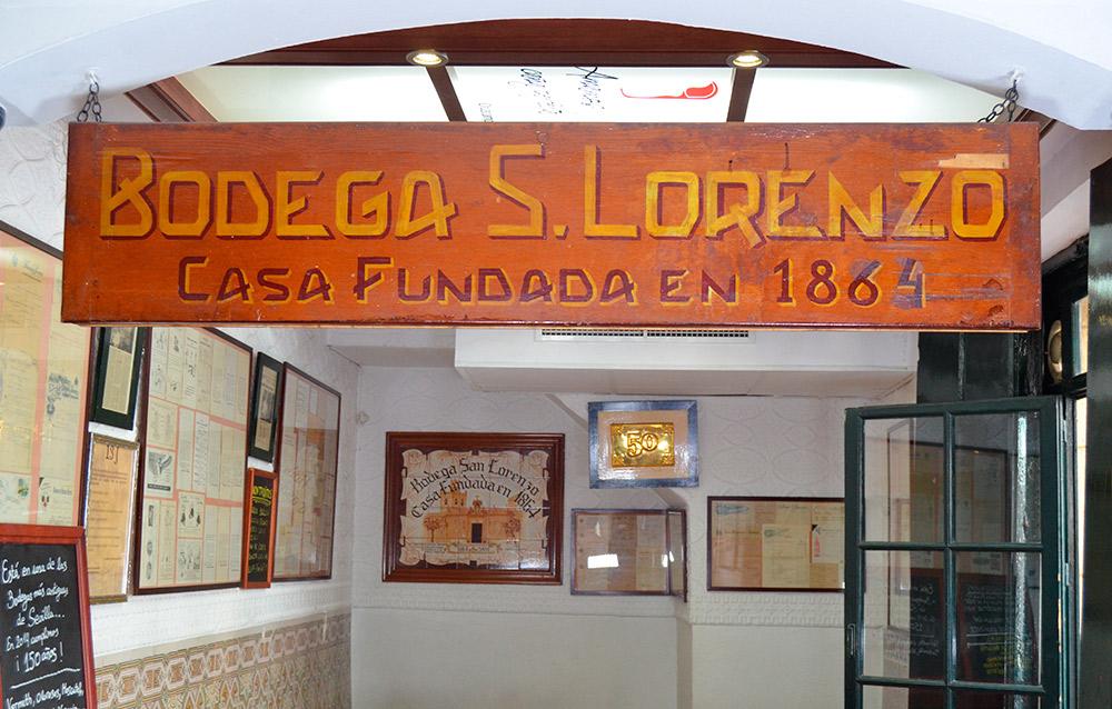 Bodega San Lorenzo, Calle Juan Rabadán 7, Sevilla