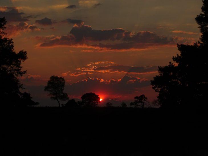 zonsondergang veluwe nederland