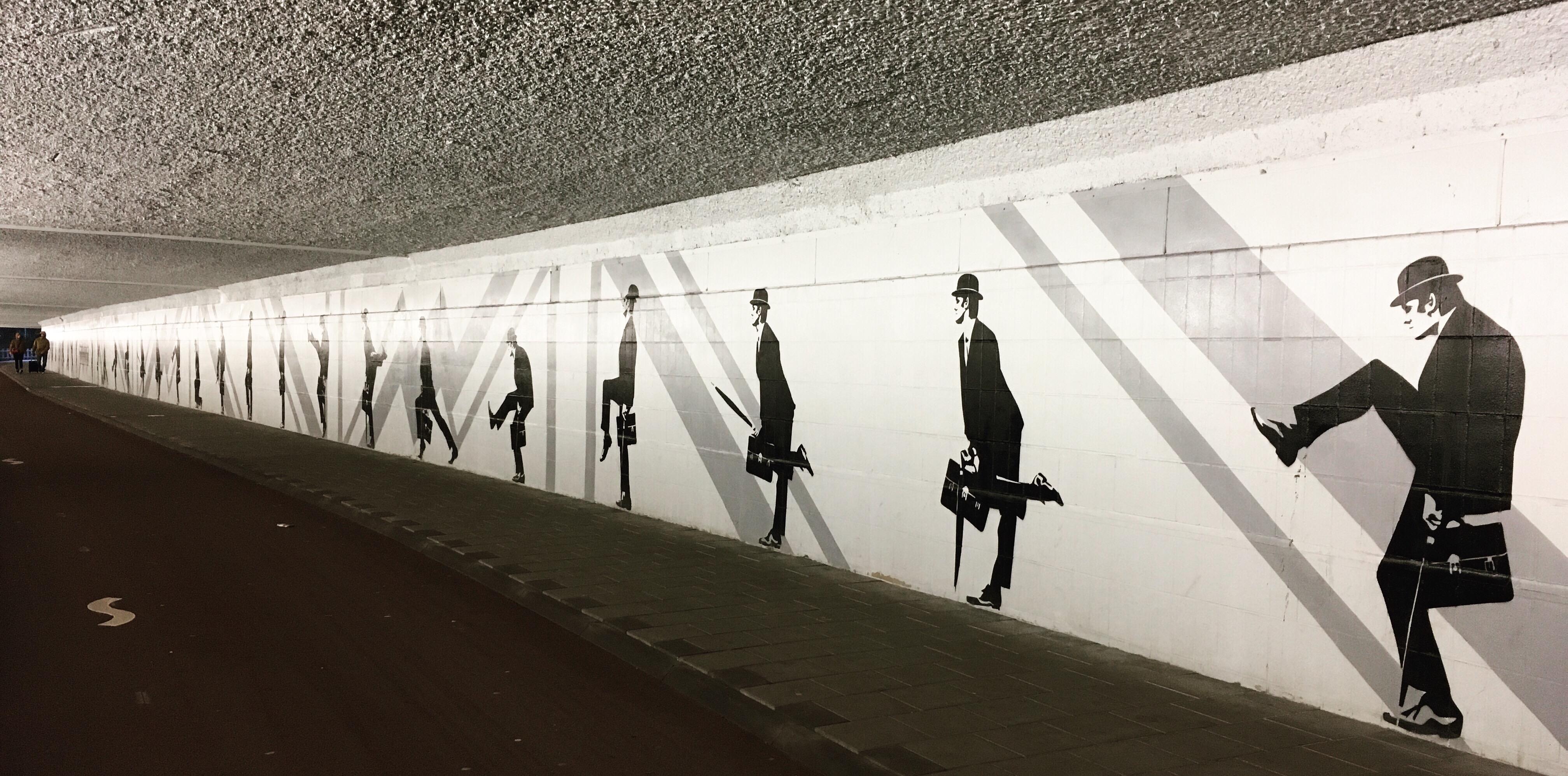 street art eindhoven silly walks john cleese monty python