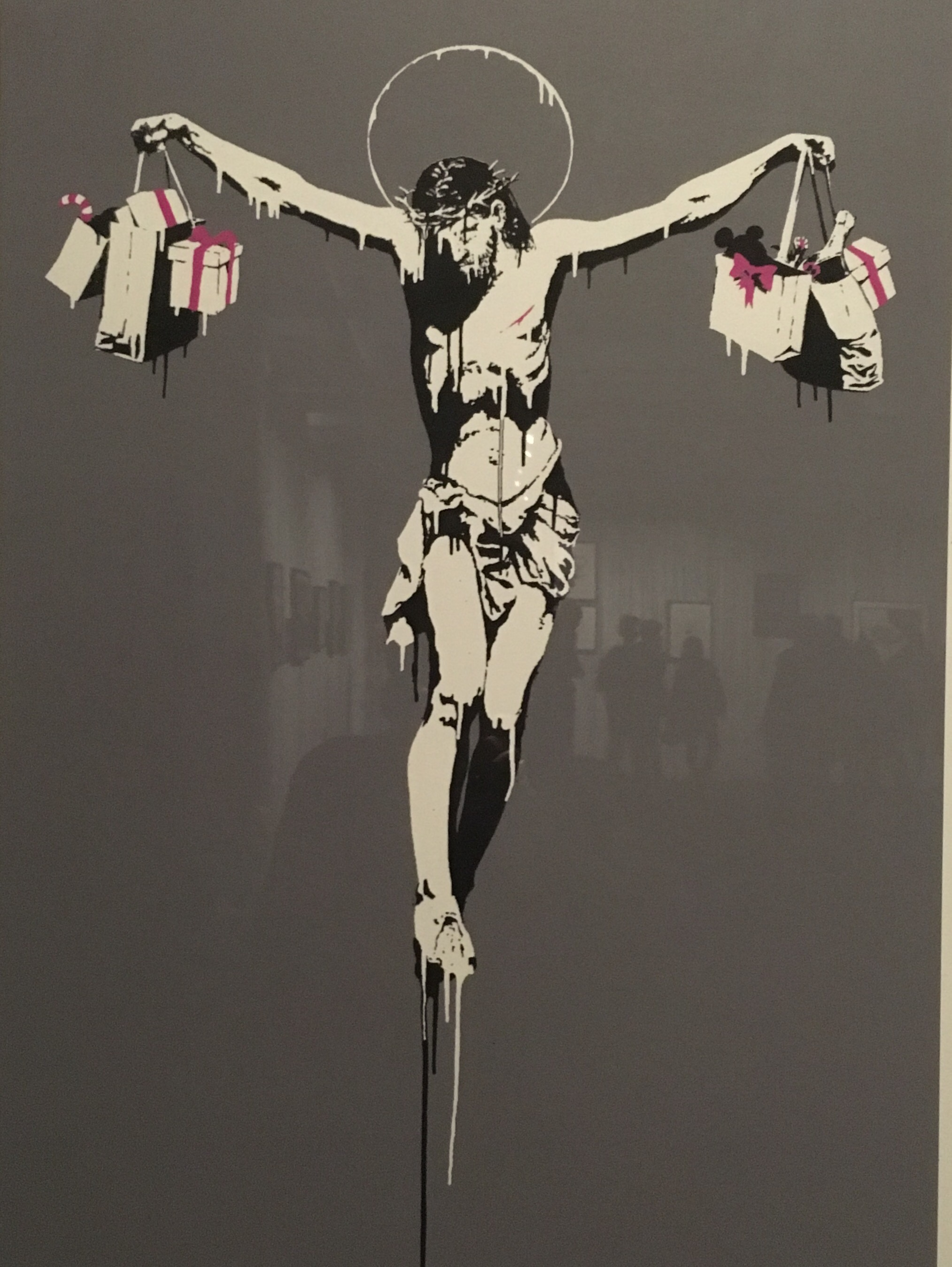Christ with shopping bags Banksy