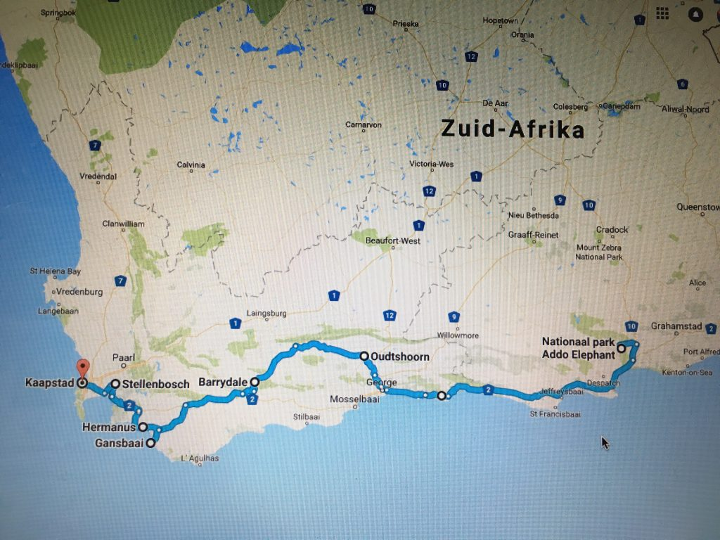 Roadtrip Zuid-Afrika tuinroute