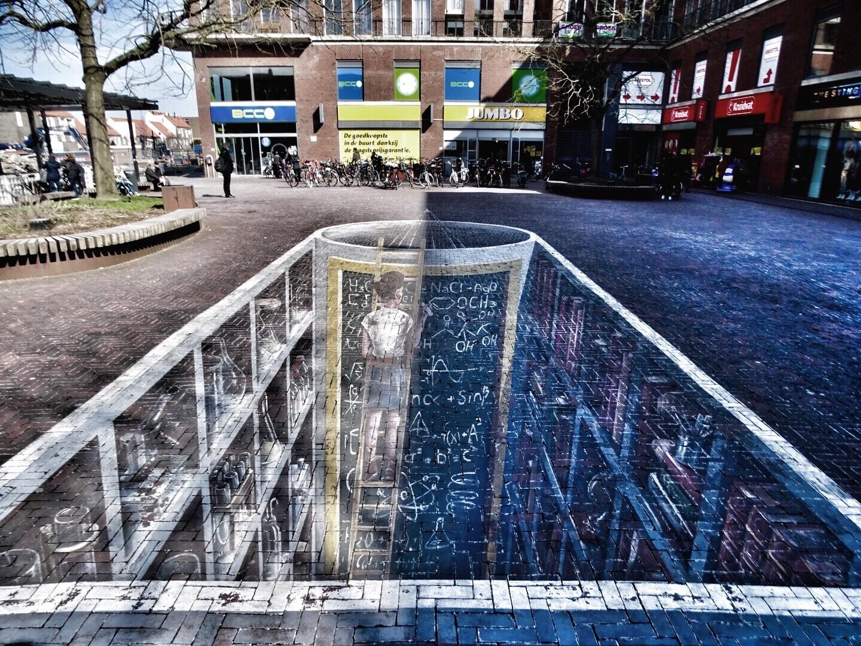 3d street art in Delft
