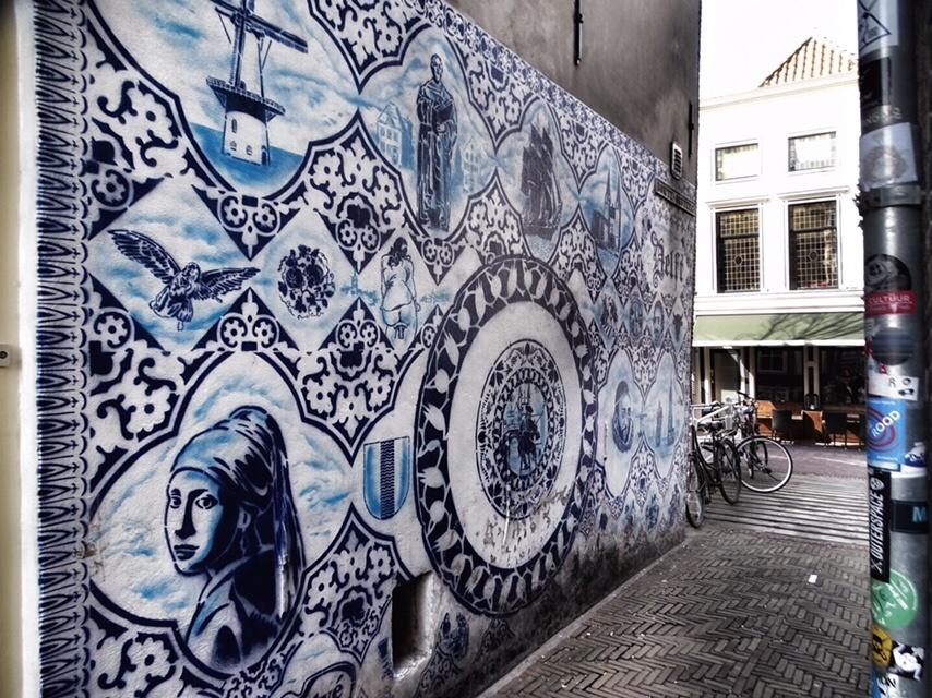 meisje met de parel street art delft