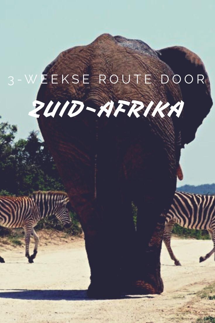 Route voor een rondreis van 3 weken door Zuid-Afrika - Worldwife.nl