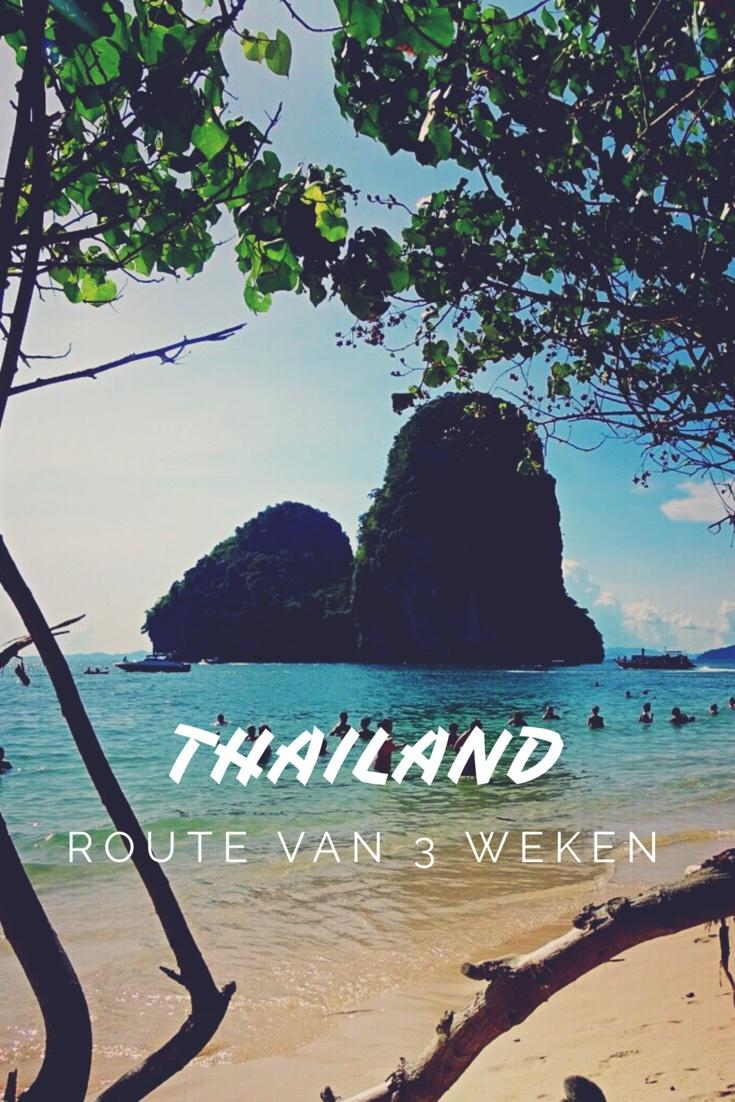 route drie weken thailand