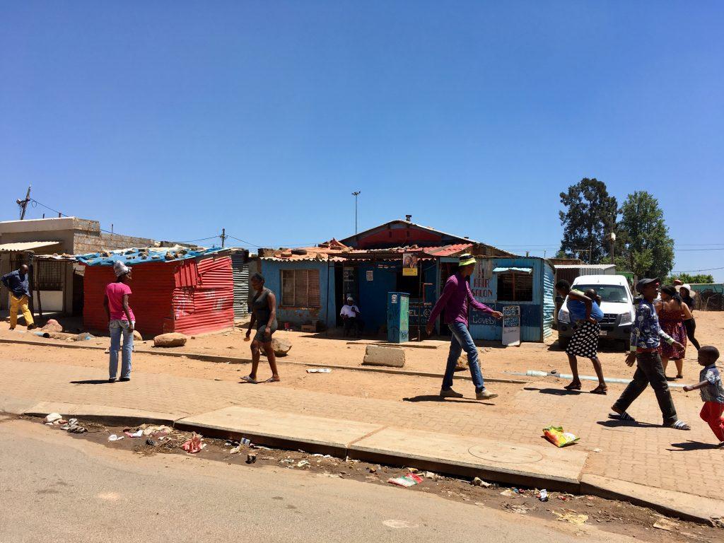 Fietsen in Soweto Johannesburg