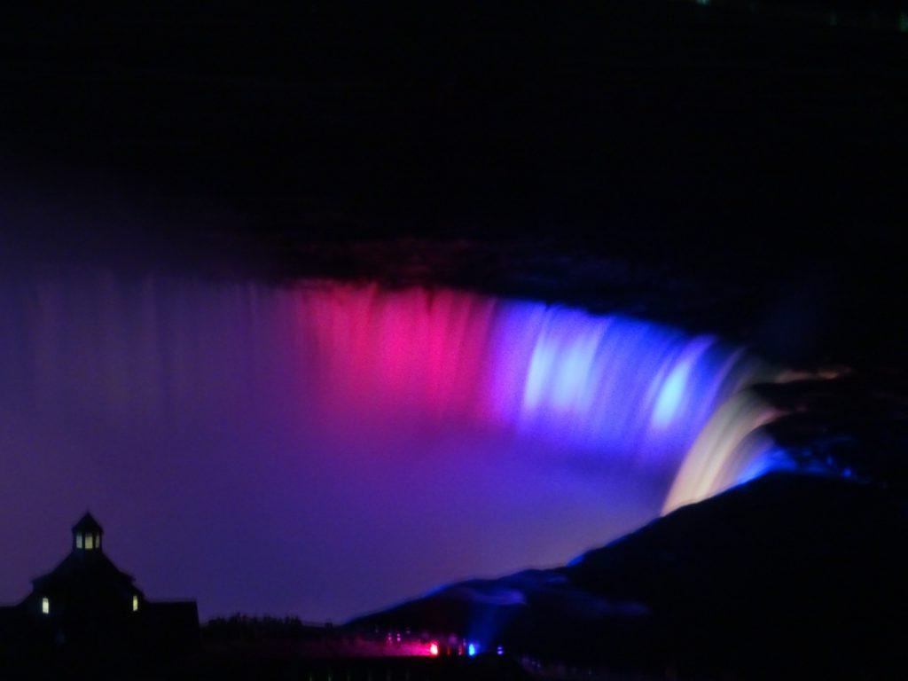 Niagara watervallen lichtshow