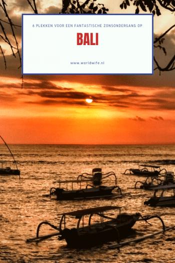 6 plekken op Bali om de mooiste zonsondergang te zien #sunset #bali