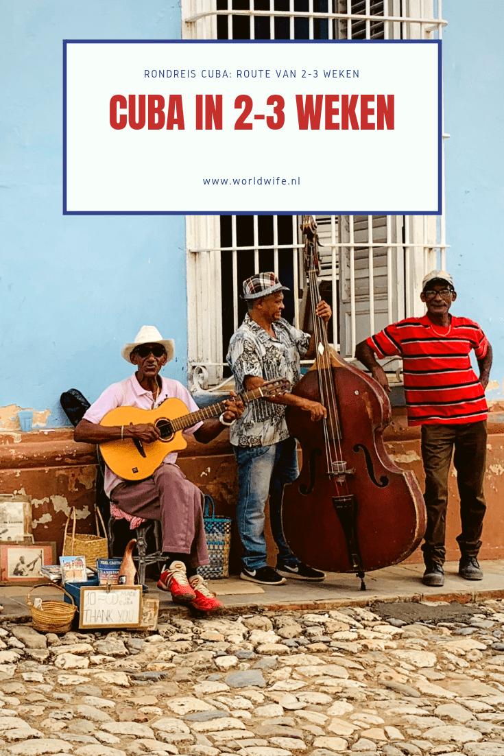 De ideale route voor een rondreis van 2-3 weken op Cuba
