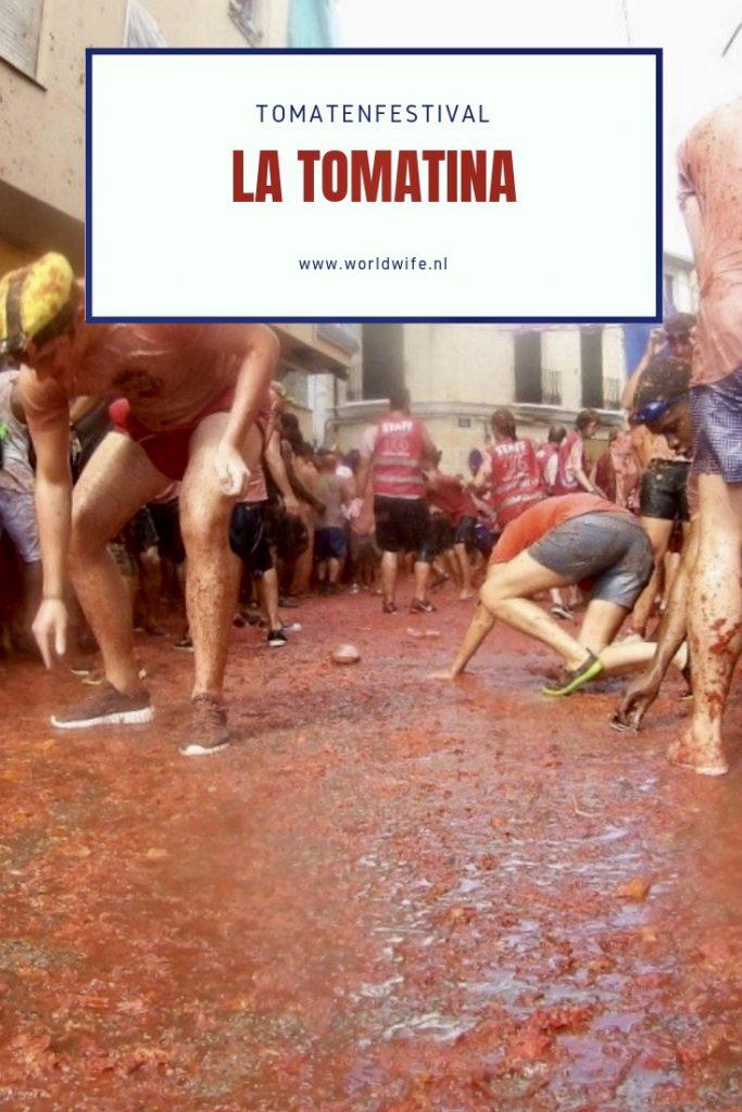 La Tomatina, het bizarre tomatenfestival in Buñol nabij Valencia in Spanje.