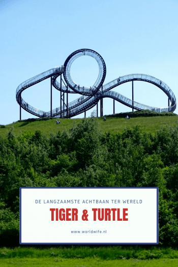 Tiger & Turtle Magic Mountain is niet zomaar een achtbaan maar de langzaamste ter wereld in Duisburg, Duitsland