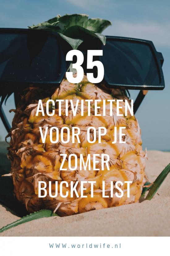 De beste zomer ooit beleef je met deze 35 zomerse bucket list ideeën. Gebruik deze ideeën voor een zomer waarin je geweldige herinneringen maakt. #bucketlist #zomer #freeprintable
