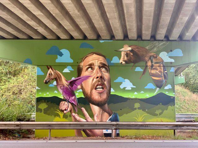 Street art Weert Hushoverbrug
