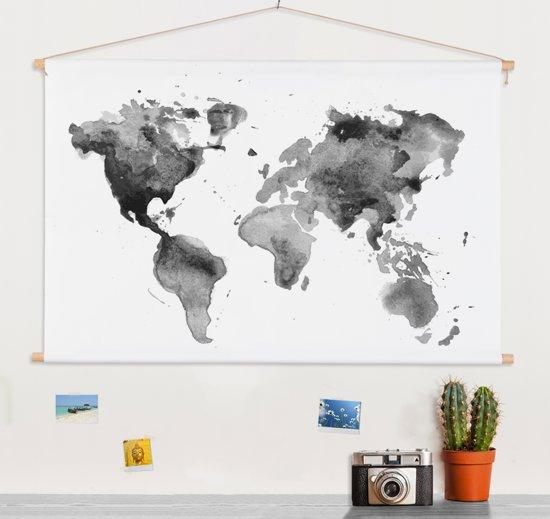 Textielposter wereldkaart