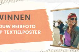 WINNEN: jouw mooiste vakantiefoto op textielposter