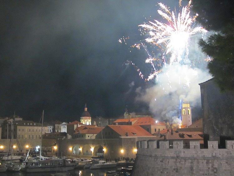 oud en nieuw in Dubrovnik
