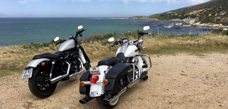 Kaaps Schiereiland op Harley Davidson vanuit Kaapstad, Zuid-Afrika